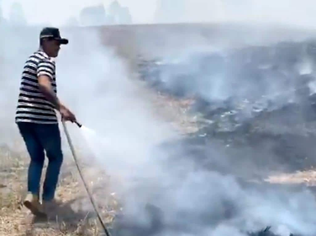 A screengrab from Instagram stories Latrell Mitchell  helping out with the fires in Taree.  iam_lm01 Dated 13/11/2019    https://www.instagram.com/stories/iam_lm01/