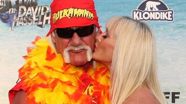 Hulk Hogan with his new wife Jennifer McDaniel.