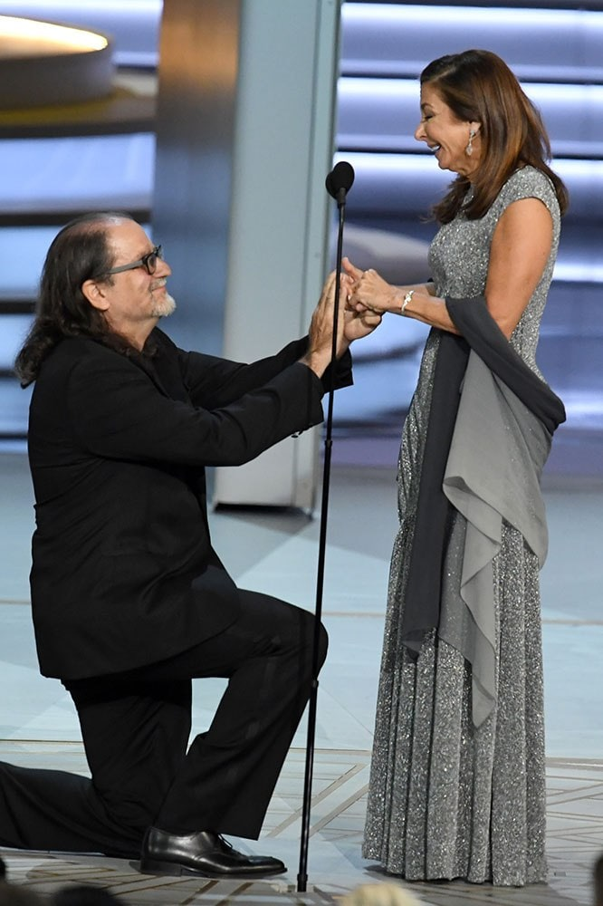 Glenn Weiss just proposed to his partner live on stage at the Emmy Awards