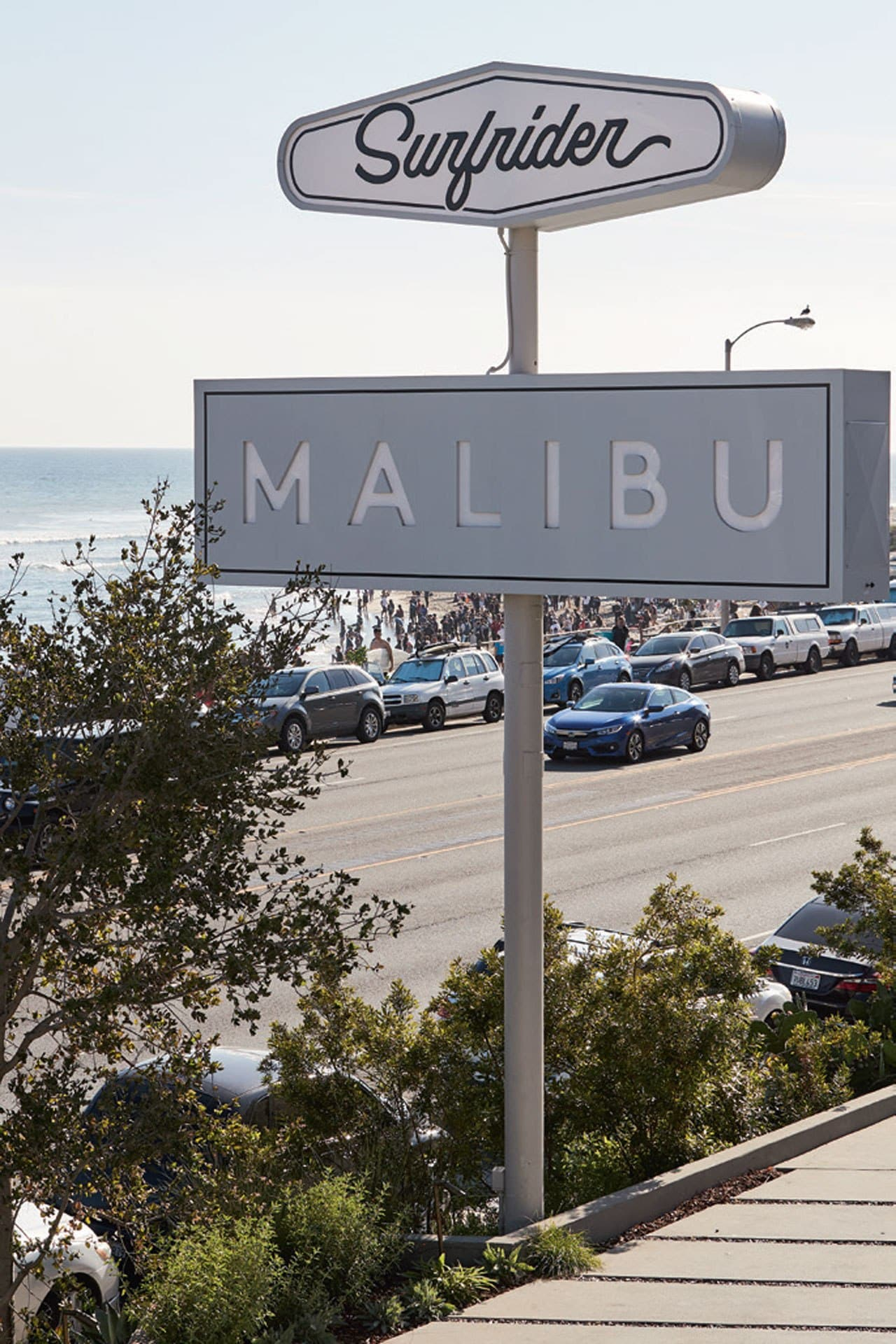 Outside Malibu's Surfrider hotel. Image credit: Julie Adams