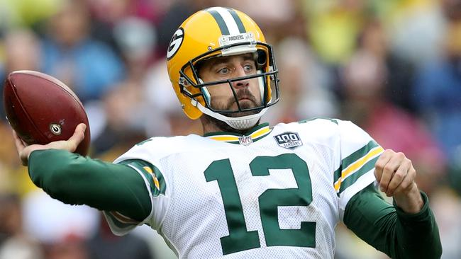 Aaron Rodgers of the Green Bay Packers will be looking to bounce back against Detroit. Rob Carr/Getty Images/AFP