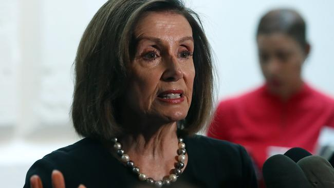 Speaker of the House Nancy Pelosi announced that House Democrats will start an impeachment inquiry. Picture: AFP