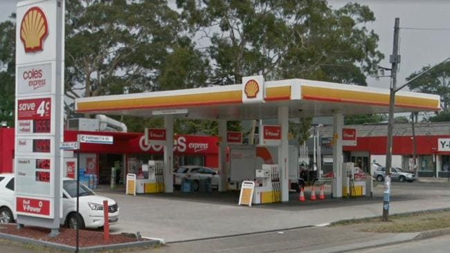 A crime scene has been established after an armed robbery at a service station in Lidcombe on Wednesday. Picture: Google
