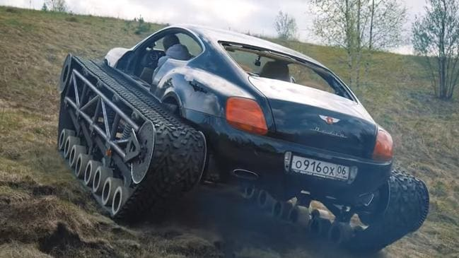 Bentley Continental GT tank is a beast off-road.