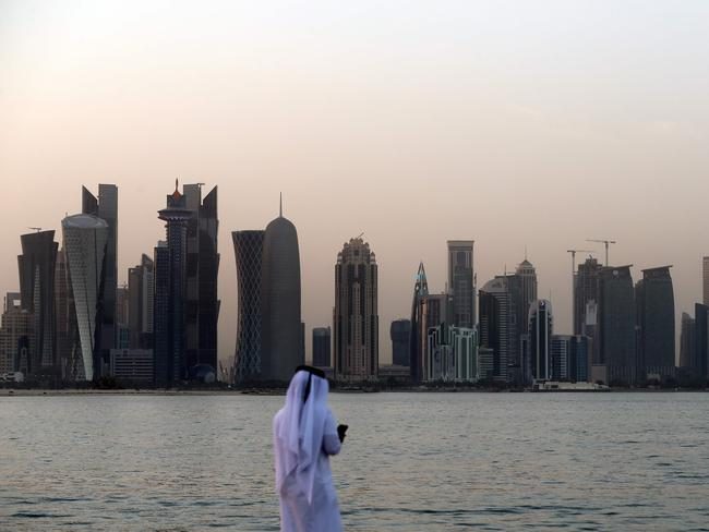 Qatar has a busy transportation hub in its capital, Doha, but it's surrounded by some very angry neighbours. Picture: AFP/STR