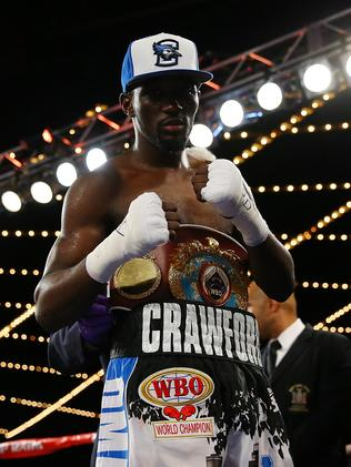 Terence Crawford after retaining his the WBO belt.