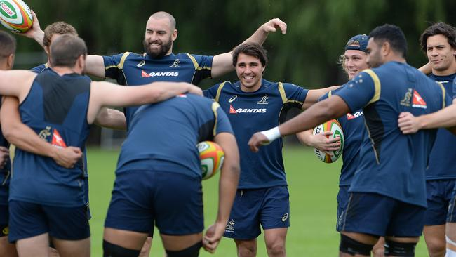 Wallabies training session at McGillivray Oval. Picture: Daniel Wilkins.