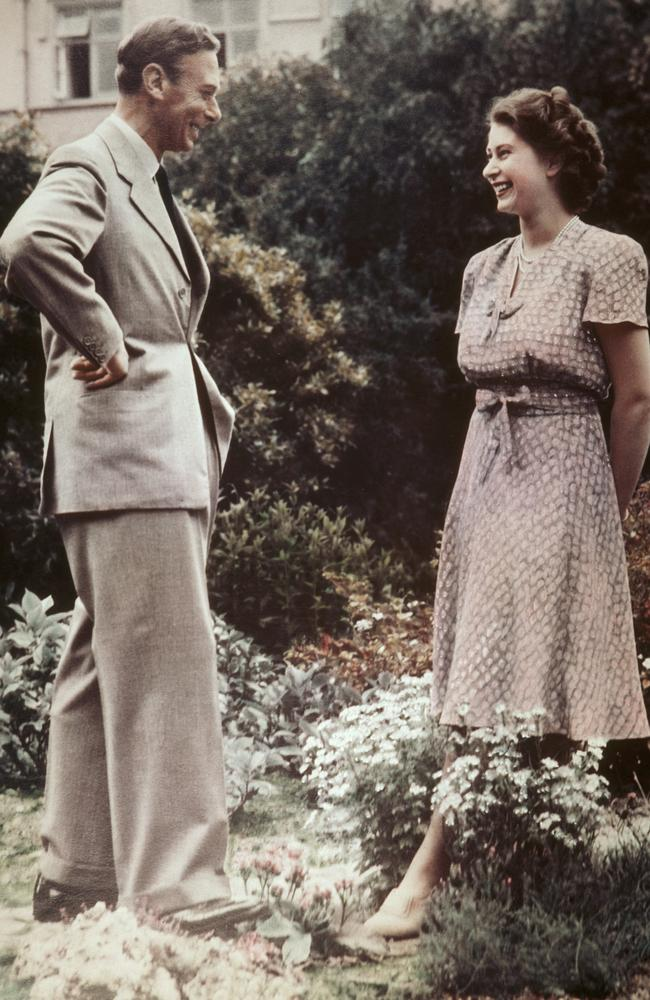 The then-Princess Elizabeth with her father, King George VI, in July 1946. Picture: Lisa Sheridan/Getty Images