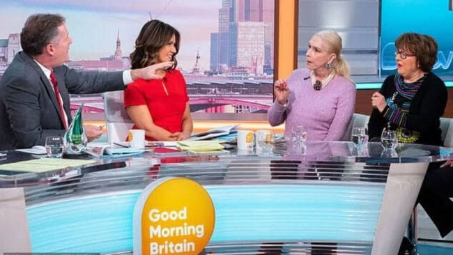 Piers Morgan was outraged by the comments. Image: Good Morning Britain