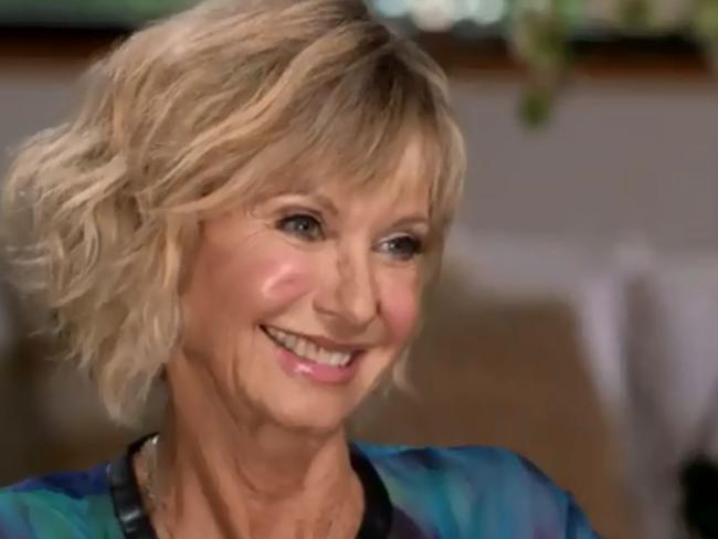 Olivia Newton John opened up about her battle with stage-four cancer which has spread to her bones on  <i>60 Minutes</i>. Picture: 60 Minutes