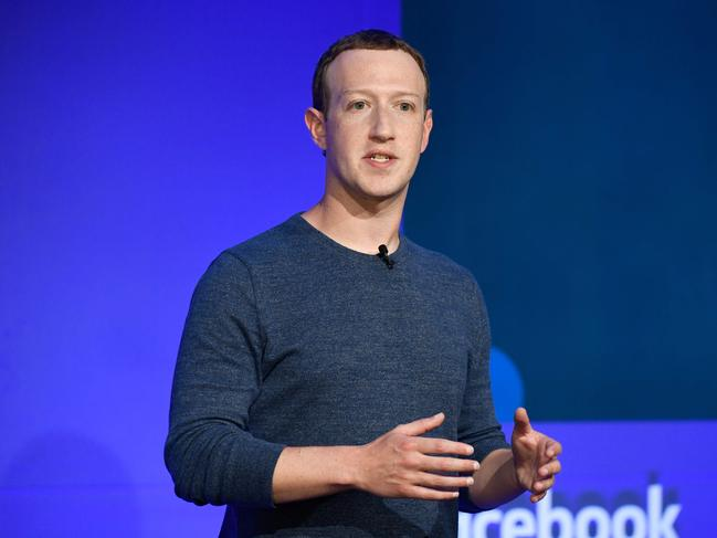 Facebook CEO Mark Zuckerberg has been forced to act. Picture: AFP