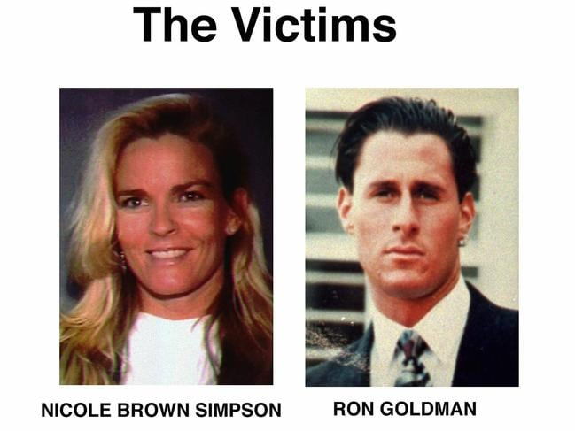 Simpson was accused of murdering his wife Nicole Brown Simpson and her friend Rob Goldman in 1994. Picture: AP