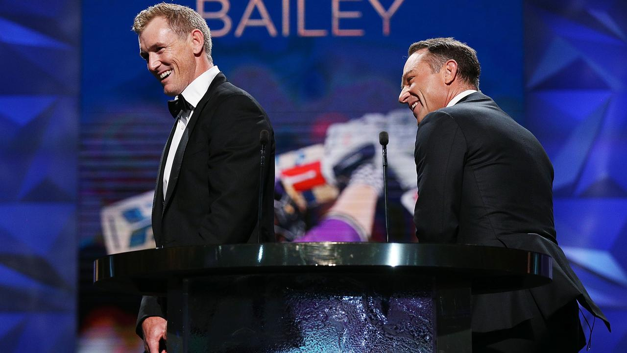 George Bailey explains his batting stance at the Allan Border Medal.