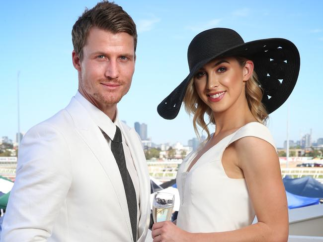 Richie Strahan and Alex Nation had been red carpet regulars during their romance. Picture: Richard Dobson
