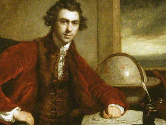 The young gentleman botanist Joseph Banks in a Joshua Reynolds portrait. Picture: National Portrait Gallery, London