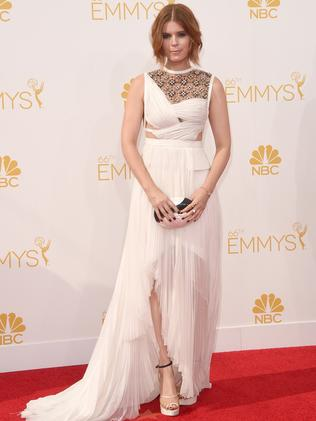Kate Mara attends the 66th Annual Primetime Emmy Awards.
