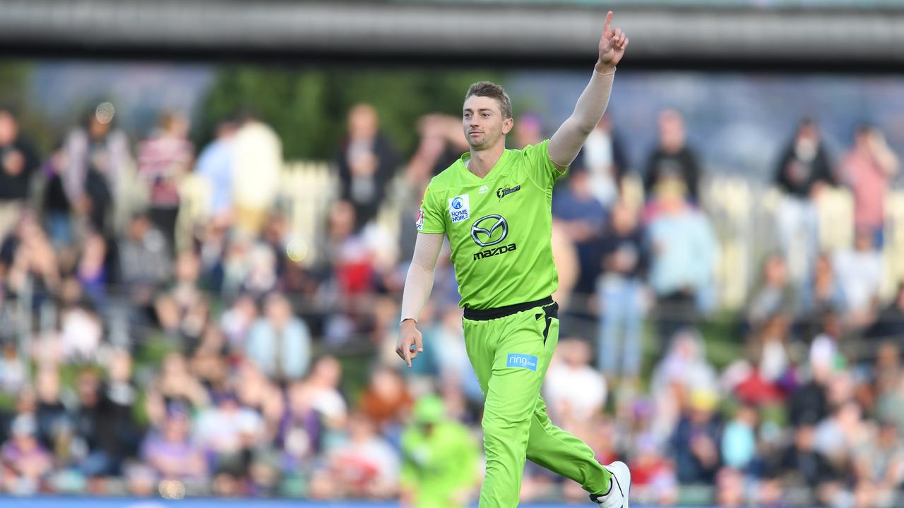 Daniel Sams of the Thunder is in good bowling form