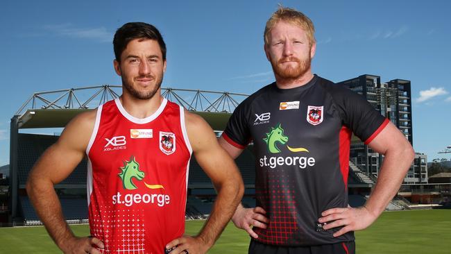 Dragons recruits Ben Hunt and James Graham.