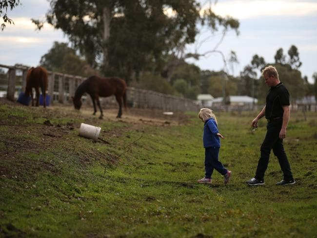 Mr Hudson is not allowed to use town water to irrigate his land or wash his horses. Picture: David Kelly