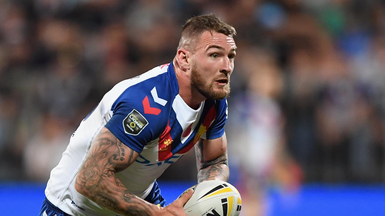 Daryl Clark playing for Great Britain against the Kiwis