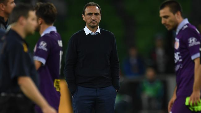It appears interim coach Michael Valkanis is not in City's plans for the top job. Picture: AAP