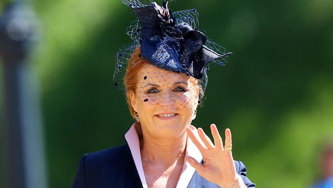 Eugenie's mother Sarah Ferguson is said to have lead the push for a big wedding. Picture: Gareth Fuller