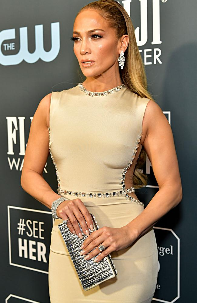 Jennifer Lopez was also at the 25th Annual Critics Choice Awards. Picture: Getty Images