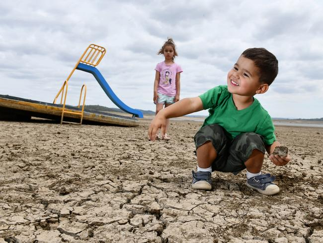 """Locals have described the drought taking over their dam as a """"slow process"""". Picture: Paul Mathews"""