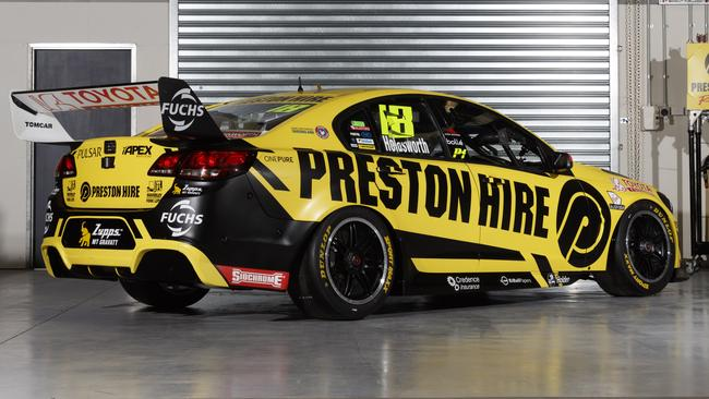 Lee Holdsworth's new Preston Hire Racing Supercars livery for 2017.