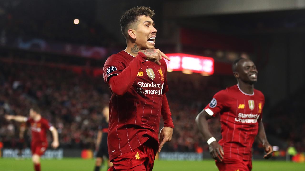 Roberto Firmino scored for Liverpool in its more recent UEFA Champions League match. Picture: Getty Images