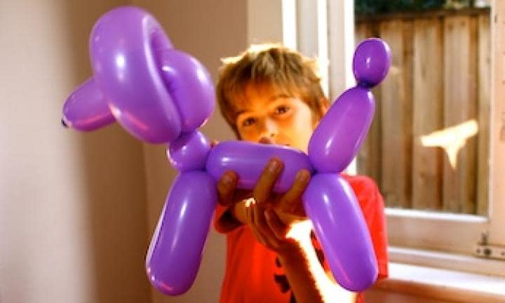 Balloon animals: poodle