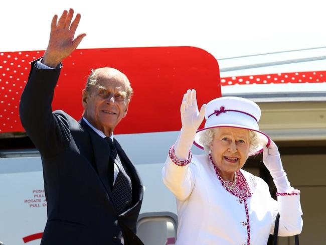 Queen Elizabeth II marked her 91st birthday last month and Prince Philip turns 96 in June. Picture: AFP