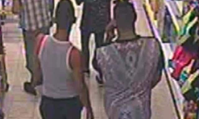 Three of the accused were filmed on CCTV following the boy's mother into the bargain store in Worcester, England. Source:Supplied