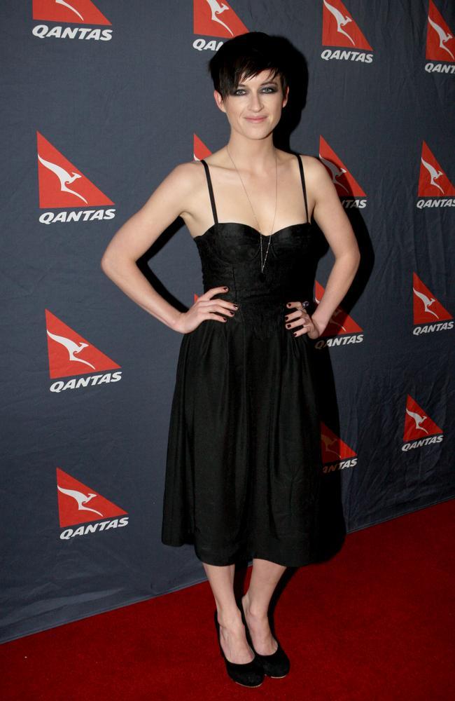 Megan Washington at Qantas 90th birthday party in 2010, where the trouble began.