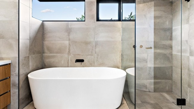 Modern bathrooms are included.