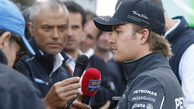 Rosberg had plenty of questions to answer after the race.