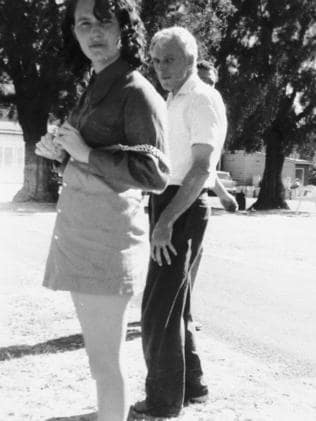 Catherine Birnie with her abusive father, mid-1970s.