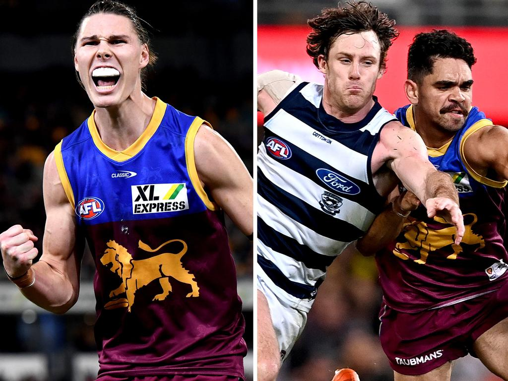 Brisbane blitzed their top four rivals Geelong, with Charlie Cameron playing a starring role.
