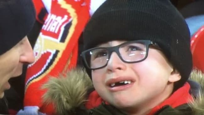 The young kid who symbolised Arsenal's pain.