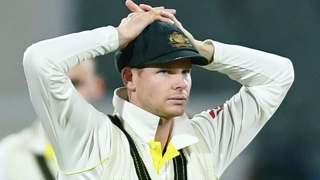Australian captain Steve Smith shows his frustration on Day 4.