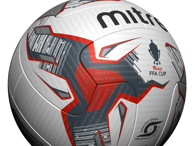 A closer look at the new Mitre ball for the 2017 FFA Cup.