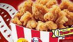 KFC popcorn chicken. junk food. fast food