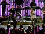 Singer Adam Levine of Maroon 5 and rapper Kendrick Lamar perform onstage during the 2016 American Music Awards at Microsoft Theater on November 20, 2016 in Los Angeles, California. Picture: Getty