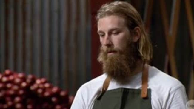 Under pressure ... nerves got the better of MasterChef contestant Jarrod.
