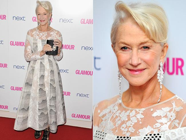Mirren walks the red carpet at the 2014 Glamour Women Of The Year Awards in London. Picture: Getty