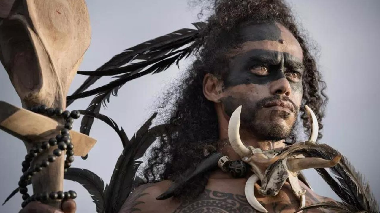 A member of the Marquesas tribe in French Polynesia. Picture: Jimmy Nelson