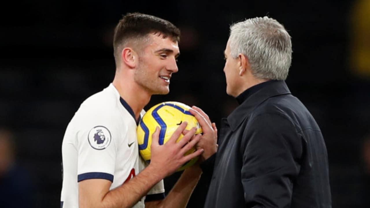 Jose Mourinho has revealed why he gave Troy Parrott the match ball