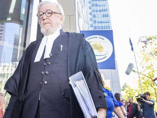 George Pell's lawyer, Robert Richter QC leaves the County. Picture: Daniel Pockett/AAP