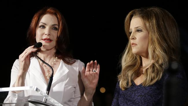 Priscilla Presley, left, and Lisa Marie Presley. Picture: AP