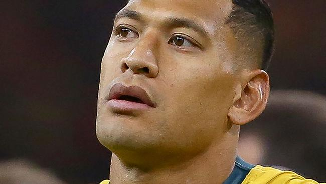 Israel Folau won't wear the Wallaby jersey again. Picture: AFP